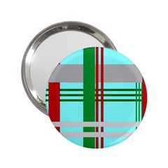 Christmas Plaid Backgrounds Plaid 2 25  Handbag Mirrors