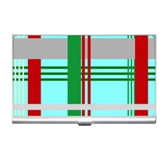 Christmas Plaid Backgrounds Plaid Business Card Holders by Celenk