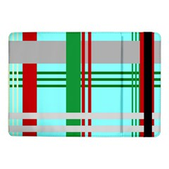 Christmas Plaid Backgrounds Plaid Samsung Galaxy Tab Pro 10 1  Flip Case by Celenk