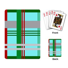 Christmas Plaid Backgrounds Plaid Playing Card by Celenk