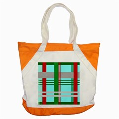 Christmas Plaid Backgrounds Plaid Accent Tote Bag by Celenk