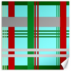 Christmas Plaid Backgrounds Plaid Canvas 12  X 12