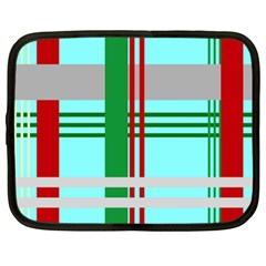 Christmas Plaid Backgrounds Plaid Netbook Case (large) by Celenk