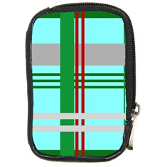 Christmas Plaid Backgrounds Plaid Compact Camera Cases