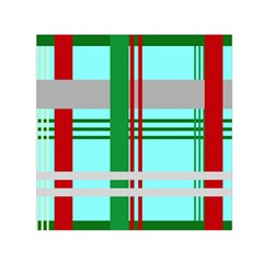 Christmas Plaid Backgrounds Plaid Small Satin Scarf (square) by Celenk
