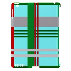 Christmas Plaid Backgrounds Plaid Apple Ipad 3/4 Hardshell Case (compatible With Smart Cover) by Celenk