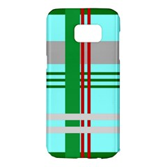 Christmas Plaid Backgrounds Plaid Samsung Galaxy S7 Edge Hardshell Case by Celenk