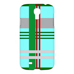 Christmas Plaid Backgrounds Plaid Samsung Galaxy S4 I9500/i9505 Hardshell Case