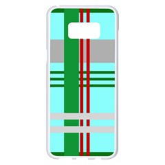 Christmas Plaid Backgrounds Plaid Samsung Galaxy S8 Plus White Seamless Case by Celenk