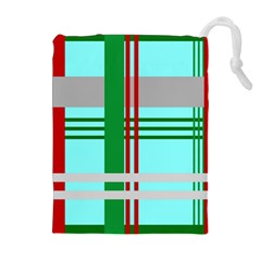Christmas Plaid Backgrounds Plaid Drawstring Pouches (extra Large) by Celenk