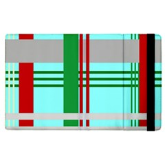 Christmas Plaid Backgrounds Plaid Apple Ipad Pro 12 9   Flip Case by Celenk