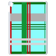 Christmas Plaid Backgrounds Plaid Apple Ipad Pro 9 7   White Seamless Case by Celenk