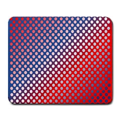 Dots Red White Blue Gradient Large Mousepads by Celenk