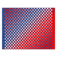 Dots Red White Blue Gradient Rectangular Jigsaw Puzzl by Celenk
