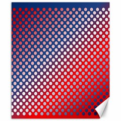 Dots Red White Blue Gradient Canvas 8  X 10  by Celenk
