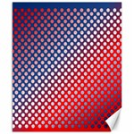 Dots Red White Blue Gradient Canvas 8  x 10  10.02 x8 Canvas - 1