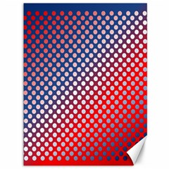 Dots Red White Blue Gradient Canvas 36  X 48   by Celenk