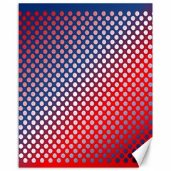 Dots Red White Blue Gradient Canvas 11  X 14   by Celenk