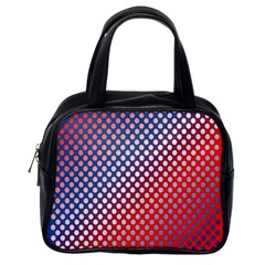 Dots Red White Blue Gradient Classic Handbags (one Side)