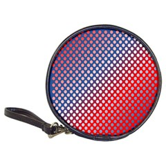 Dots Red White Blue Gradient Classic 20 Cd Wallets by Celenk