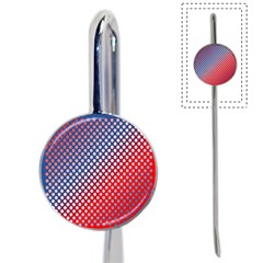 Dots Red White Blue Gradient Book Mark by Celenk