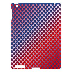 Dots Red White Blue Gradient Apple Ipad 3/4 Hardshell Case by Celenk