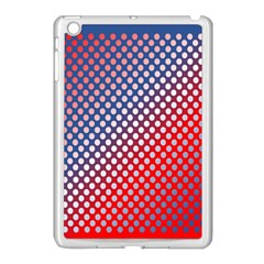 Dots Red White Blue Gradient Apple Ipad Mini Case (white) by Celenk
