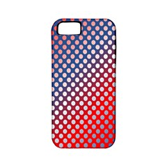 Dots Red White Blue Gradient Apple Iphone 5 Classic Hardshell Case (pc+silicone) by Celenk