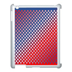 Dots Red White Blue Gradient Apple Ipad 3/4 Case (white) by Celenk