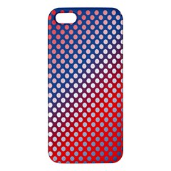 Dots Red White Blue Gradient Iphone 5s/ Se Premium Hardshell Case