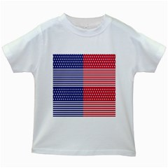 American Flag Patriot Red White Kids White T Shirts by Celenk