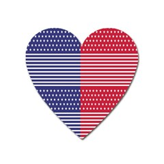 American Flag Patriot Red White Heart Magnet