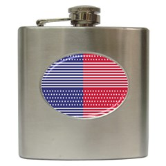 American Flag Patriot Red White Hip Flask (6 Oz) by Celenk