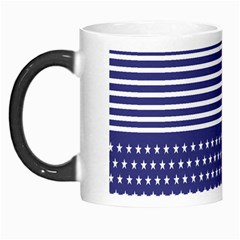 American Flag Patriot Red White Morph Mugs by Celenk