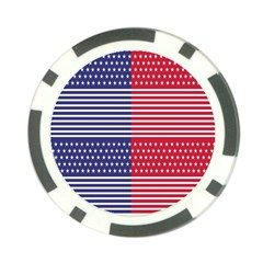 American Flag Patriot Red White Poker Chip Card Guard by Celenk