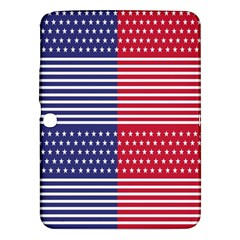 American Flag Patriot Red White Samsung Galaxy Tab 3 (10 1 ) P5200 Hardshell Case