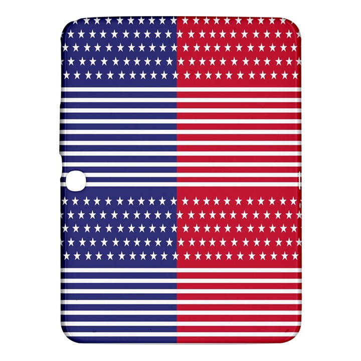 American Flag Patriot Red White Samsung Galaxy Tab 3 (10.1 ) P5200 Hardshell Case