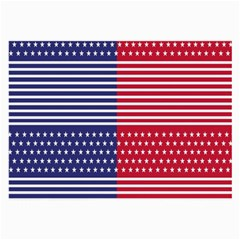 American Flag Patriot Red White Large Glasses Cloth by Celenk