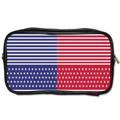 American Flag Patriot Red White Toiletries Bags 2 Side