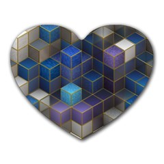 Cube Cubic Design 3d Shape Square Heart Mousepads