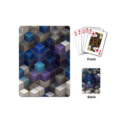 Cube Cubic Design 3d Shape Square Playing Cards (mini)  by Celenk