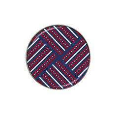 Patriotic Red White Blue Stars Hat Clip Ball Marker