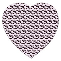 Halloween Lilac Paper Pattern Jigsaw Puzzle (heart) by Celenk