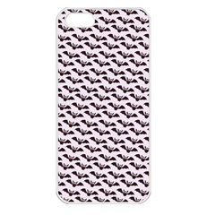 Halloween Lilac Paper Pattern Apple Iphone 5 Seamless Case (white) by Celenk