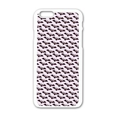 Halloween Lilac Paper Pattern Apple Iphone 6/6s White Enamel Case by Celenk