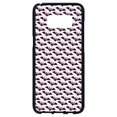 Halloween Lilac Paper Pattern Samsung Galaxy S8 Black Seamless Case