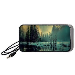 Yosemite Park Landscape Sunrise Portable Speaker