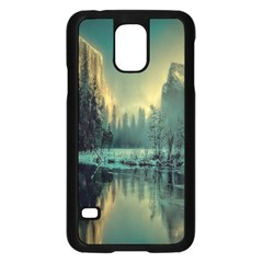 Yosemite Park Landscape Sunrise Samsung Galaxy S5 Case (black) by Celenk
