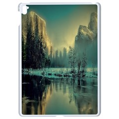 Yosemite Park Landscape Sunrise Apple Ipad Pro 9 7   White Seamless Case by Celenk