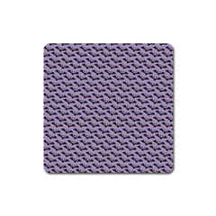 Bat Halloween Lilac Paper Pattern Square Magnet